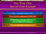 one time only special order example8