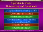 opportunity costs outsourcing and constraints28