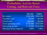 profitability activity based costing and relevant costs34