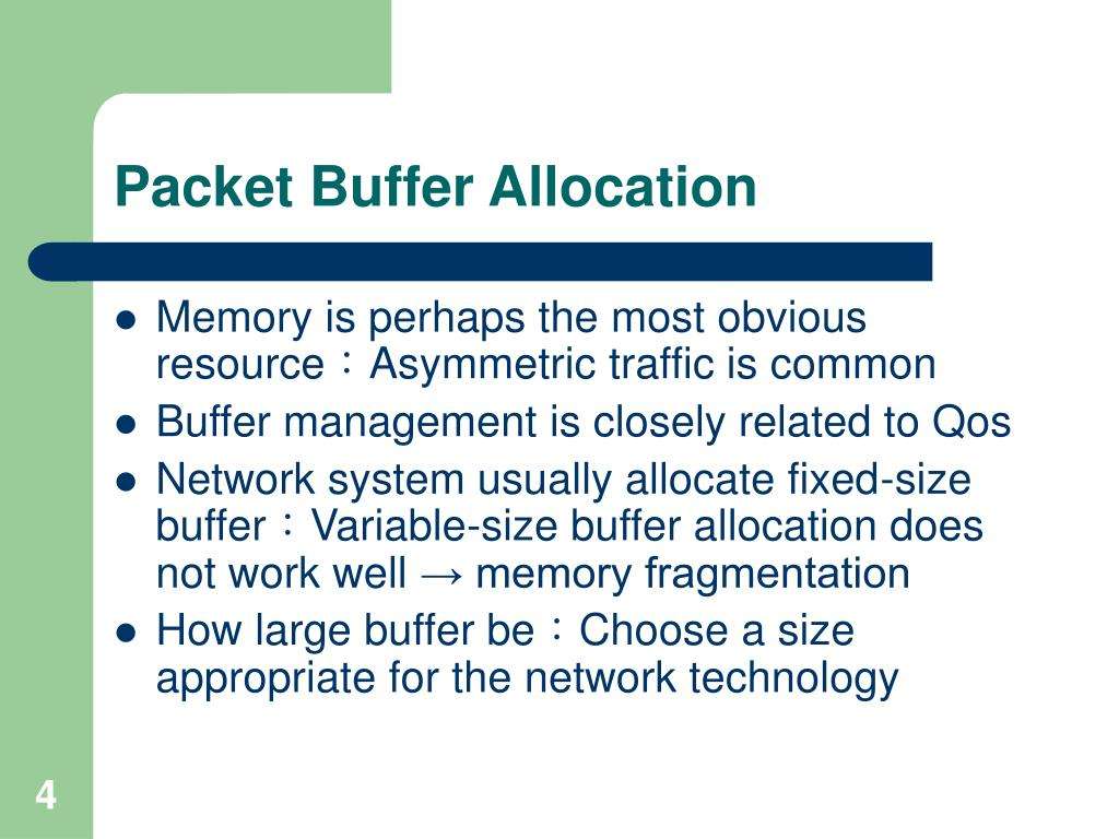 Packet Buffer Allocation