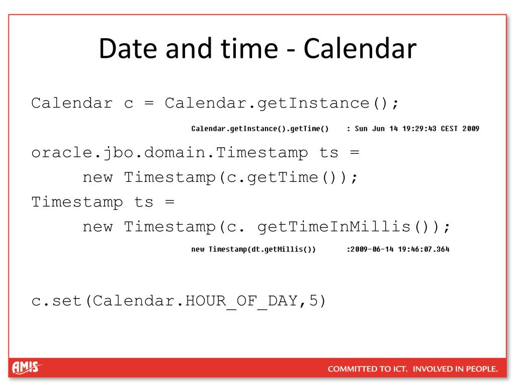 Date and time - Calendar