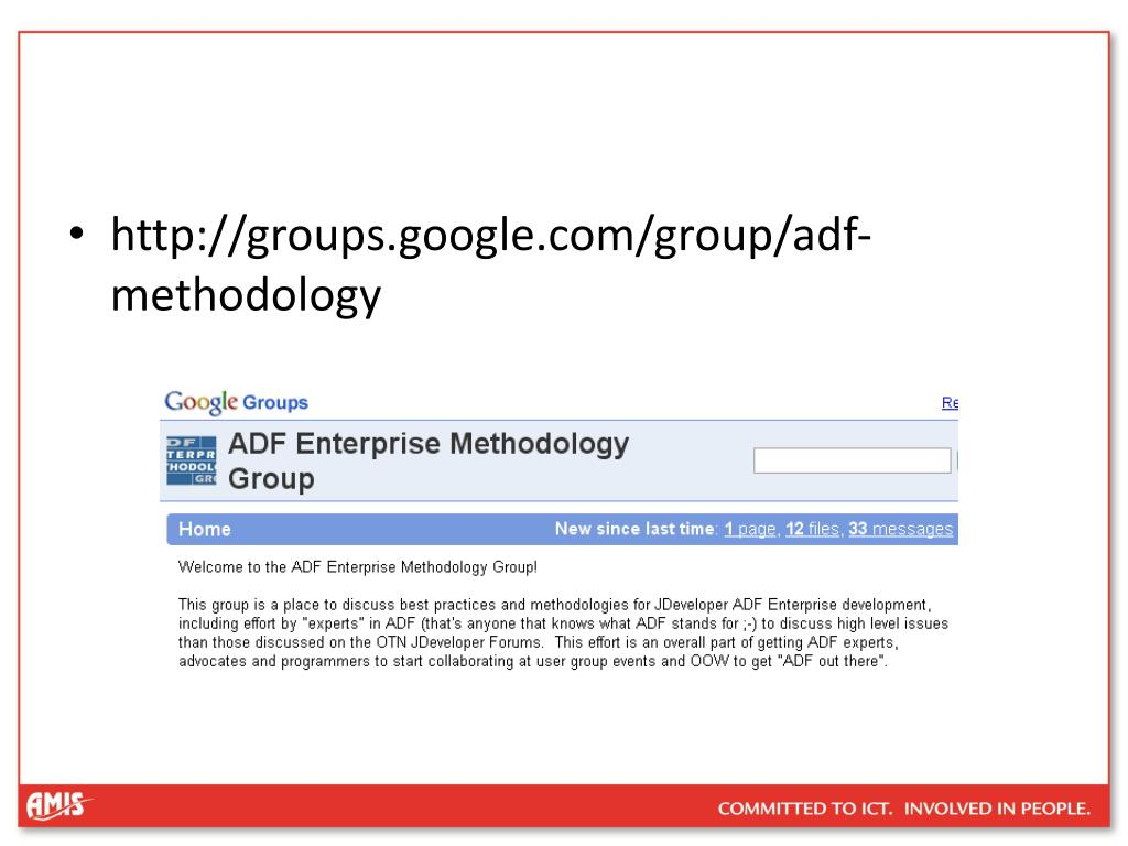 http://groups.google.com/group/adf-methodology