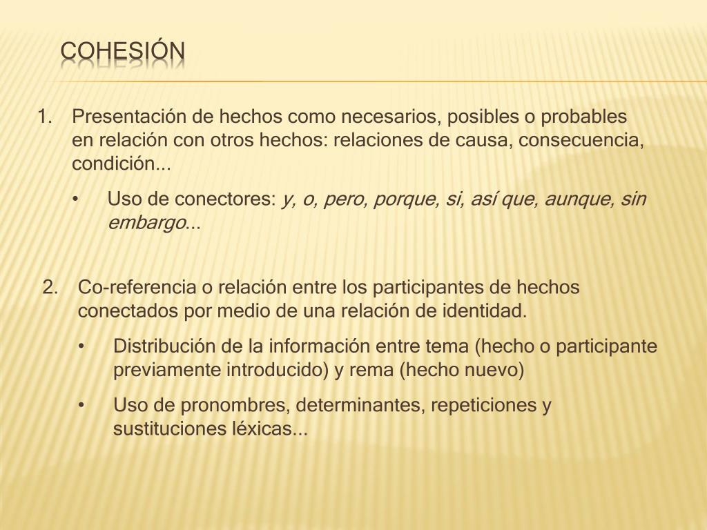 Cohesión