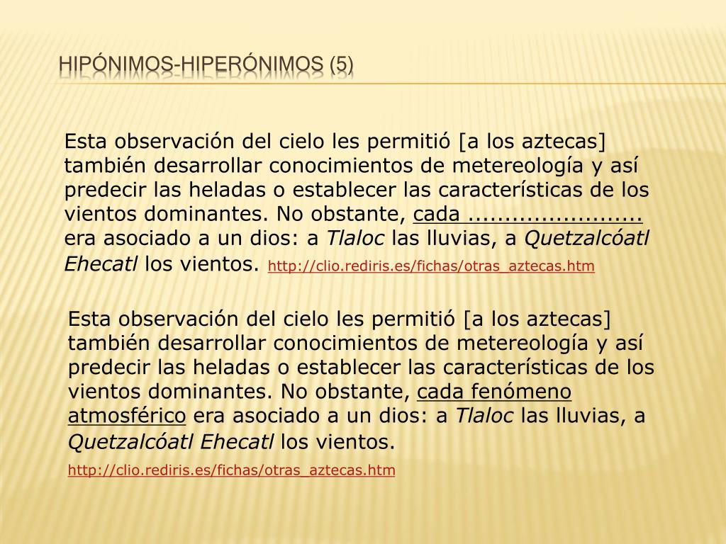 Hipónimos
