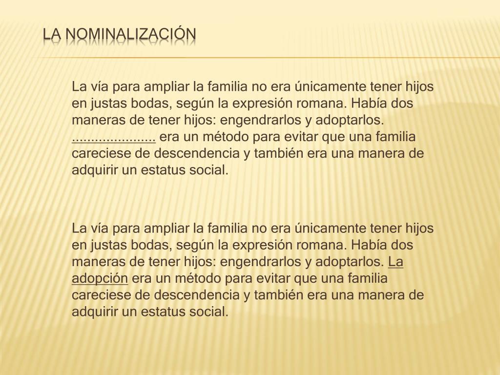 La nominalización