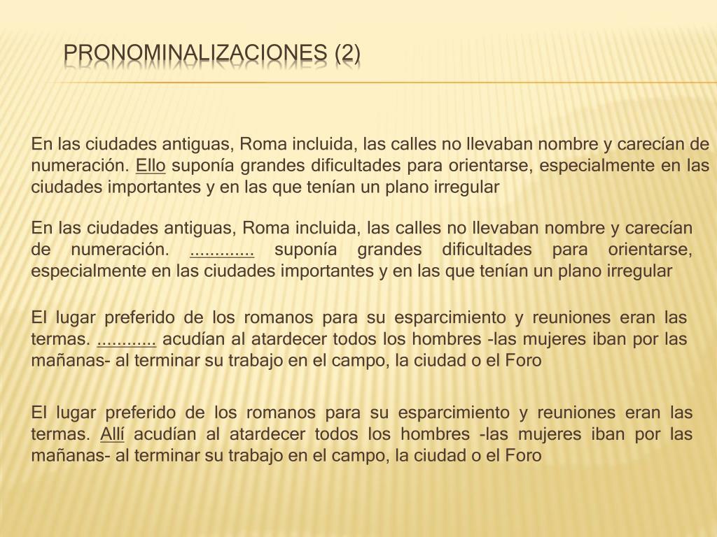 Pronominalizaciones