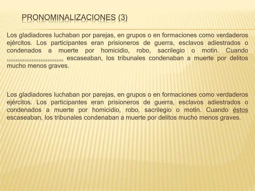 Pronominalizaciones (3)
