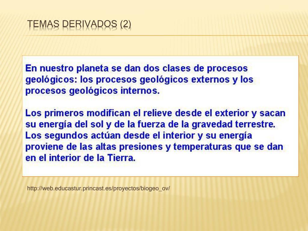 Temas derivados (2)