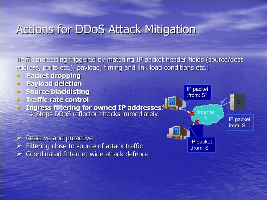 Actions for DDoS Attack Mitigation