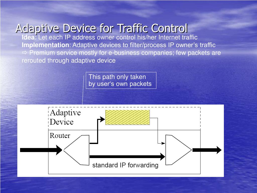 Adaptive Device for Traffic Control