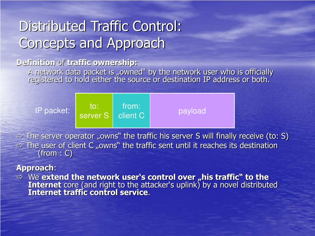 Distributed Traffic Control: