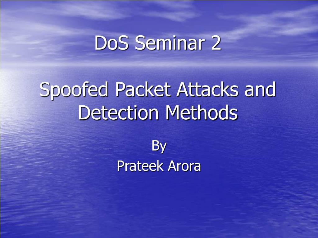 DoS Seminar 2