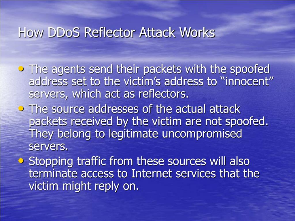 How DDoS Reflector Attack Works