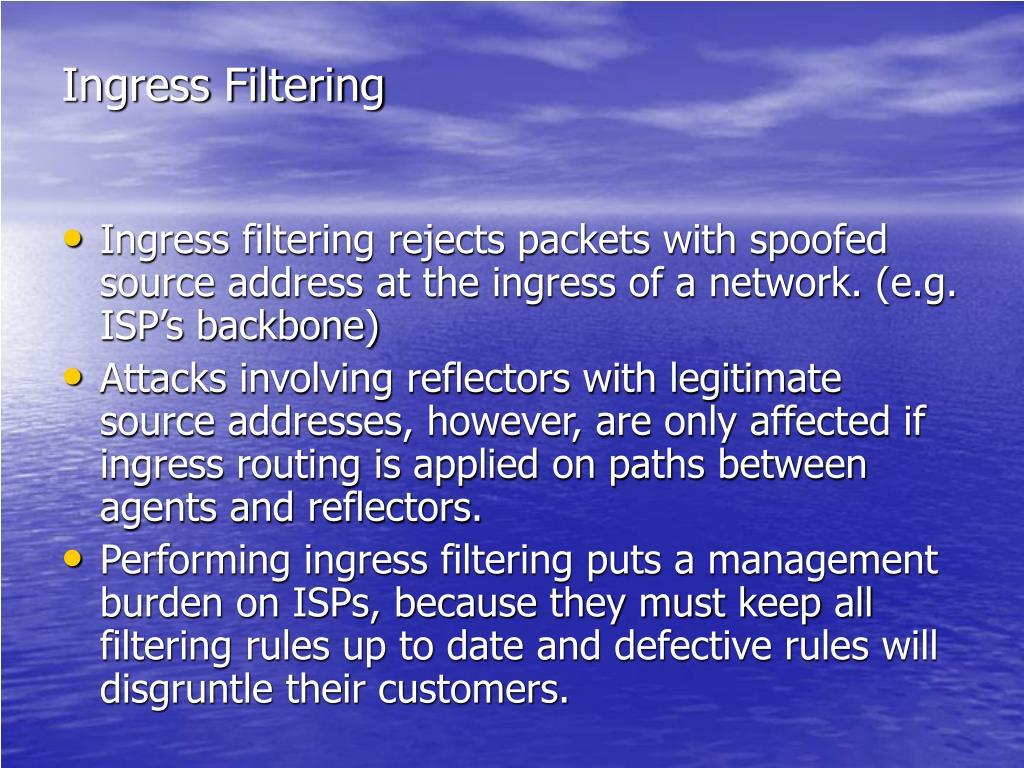 Ingress Filtering