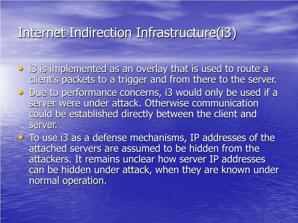 Internet Indirection Infrastructure(i3)