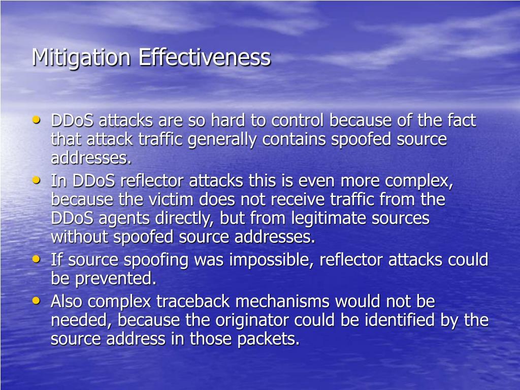 Mitigation Effectiveness
