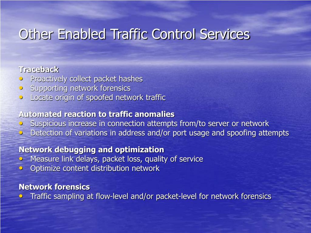 Other Enabled Traffic Control Services