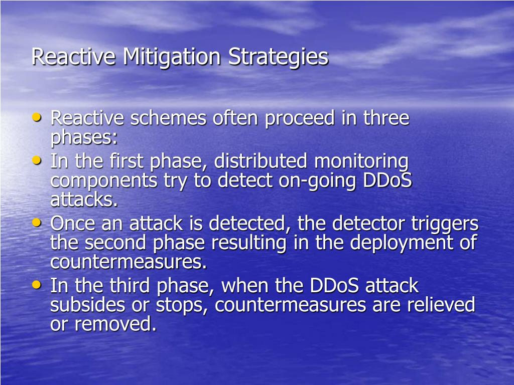 Reactive Mitigation Strategies