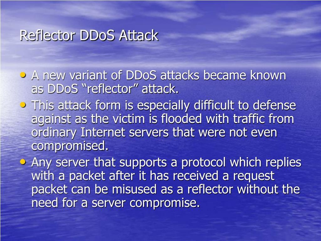 Reflector DDoS Attack