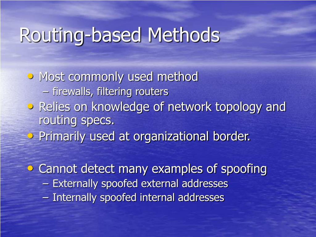 Routing-based Methods
