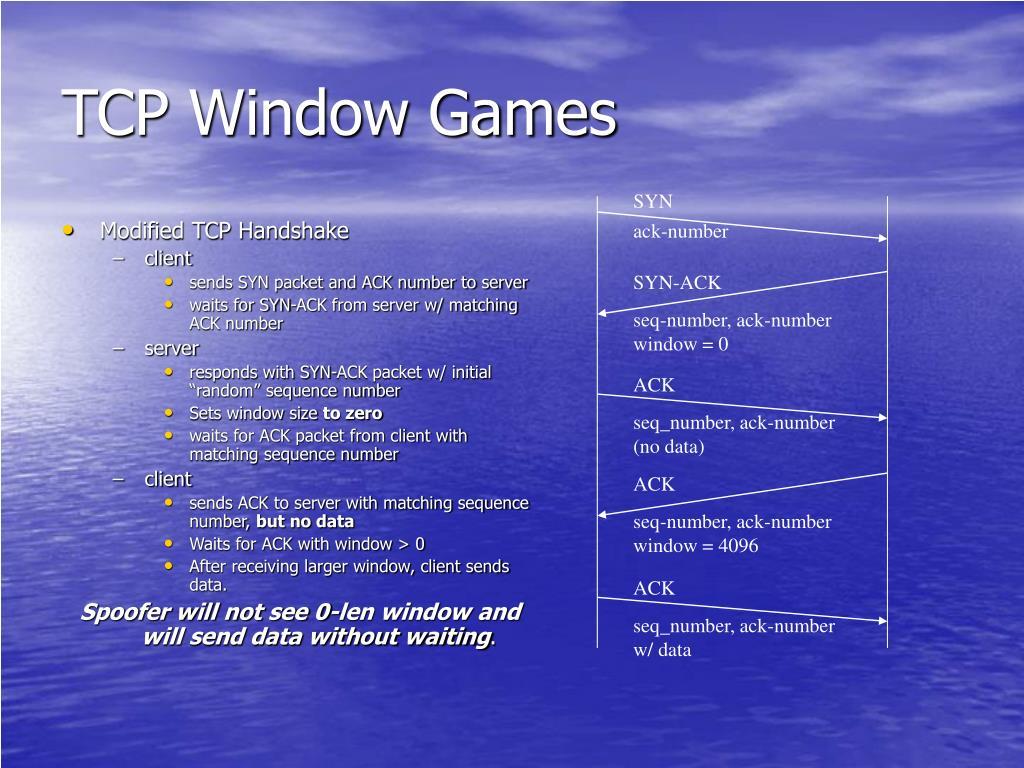 TCP Window Games