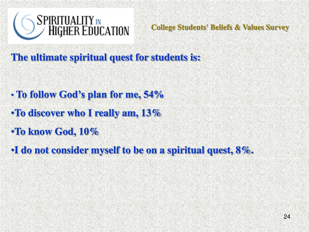 College Students' Beliefs & Values Survey