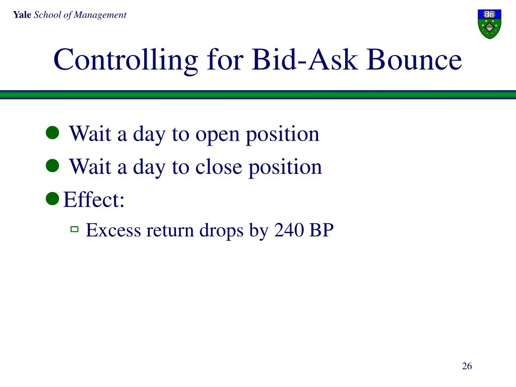 Controlling for Bid-Ask Bounce