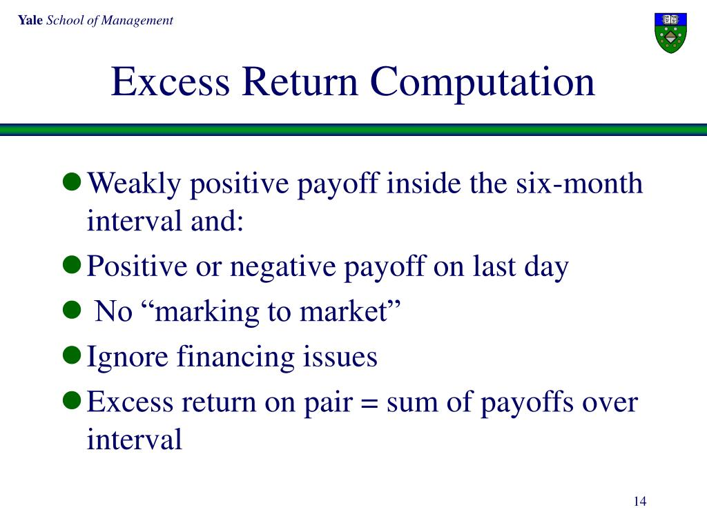 Excess Return Computation