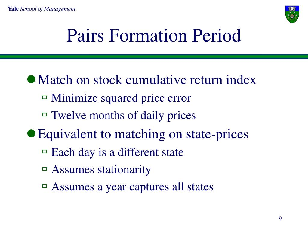 Pairs Formation Period