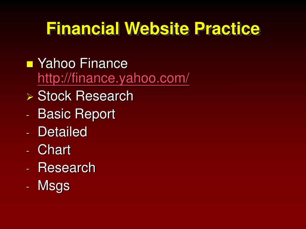 Financial Website Practice