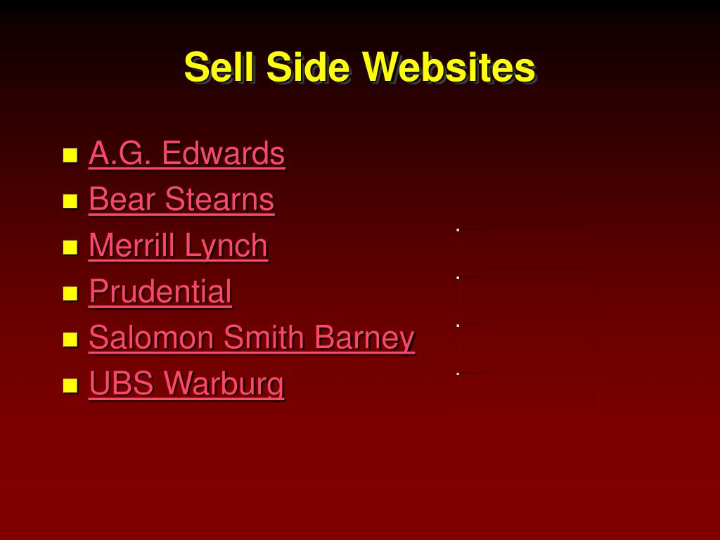 Sell Side Websites