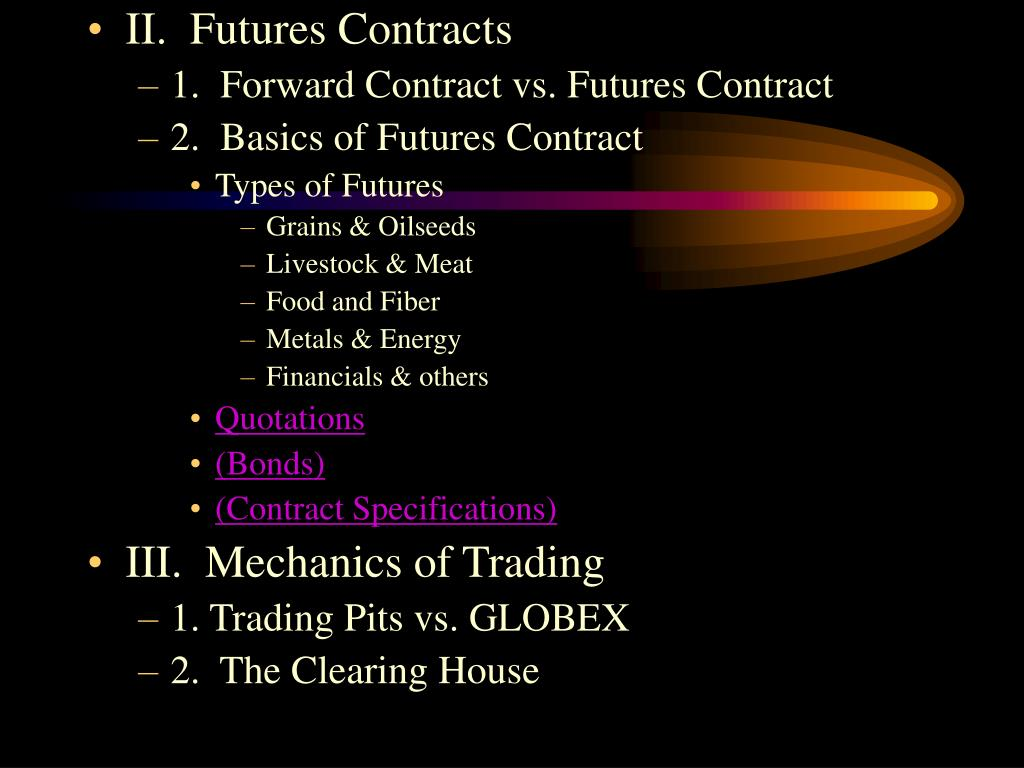 II.  Futures Contracts