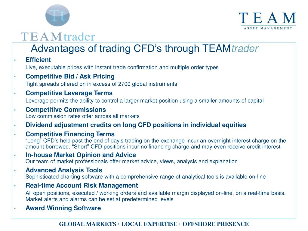 Advantages of trading CFD's through