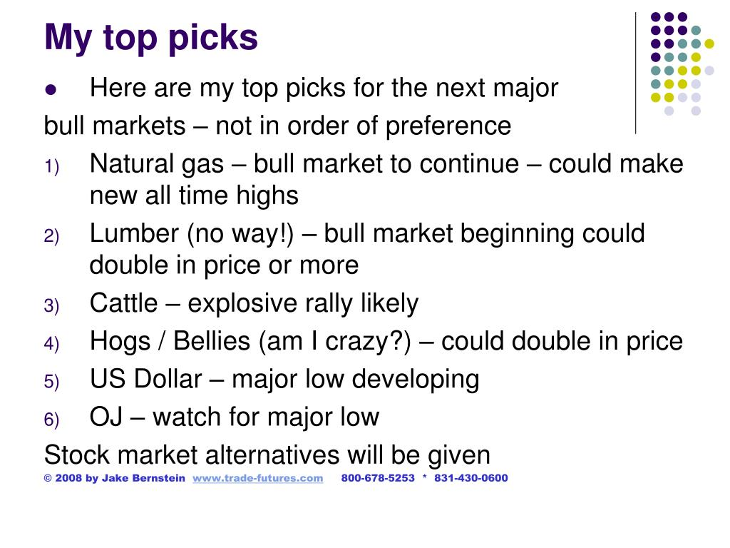 My top picks