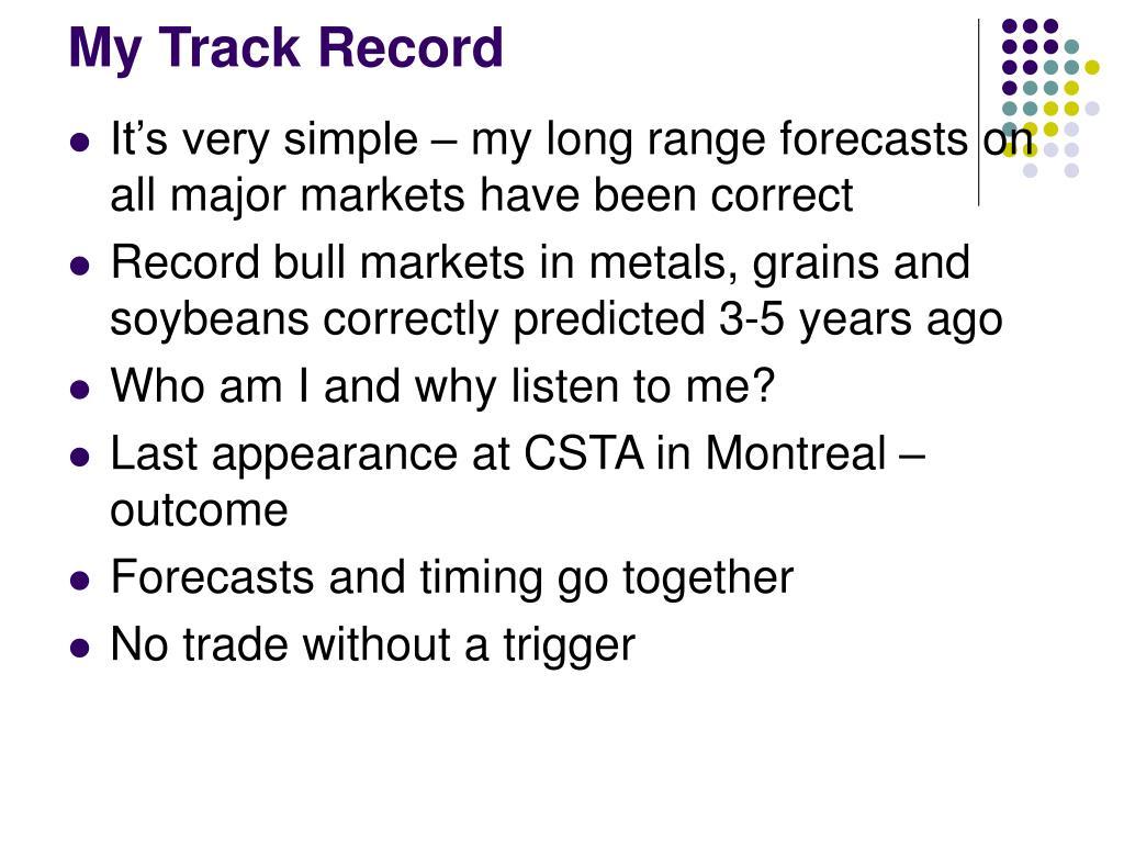 My Track Record