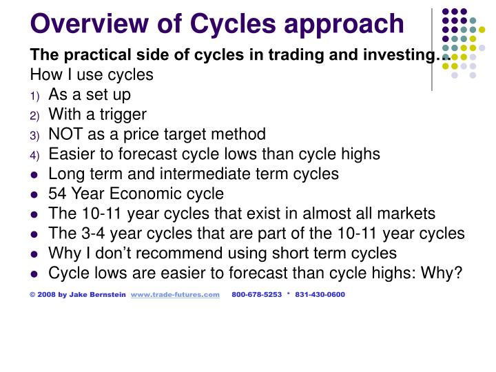 Overview of cycles approach