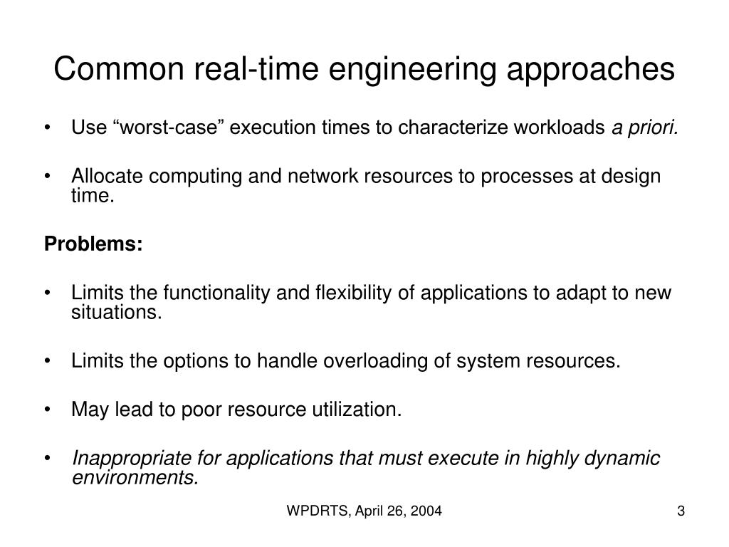 Common real-time engineering approaches