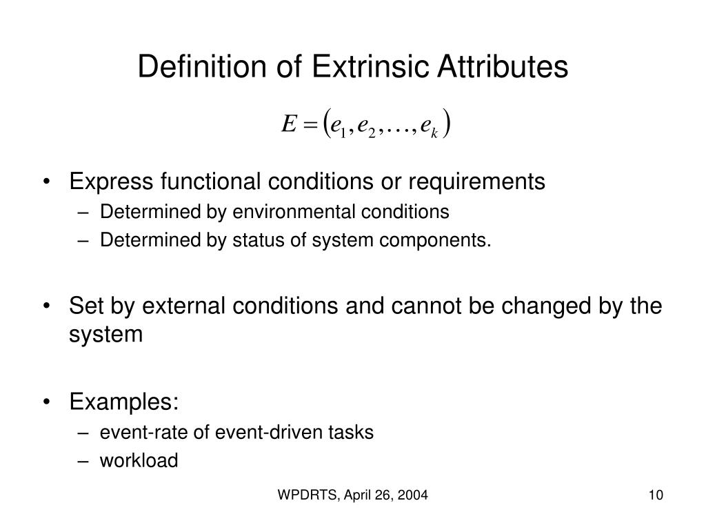 Definition of Extrinsic Attributes