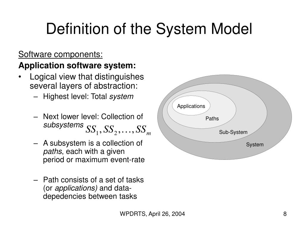 Definition of the System Model