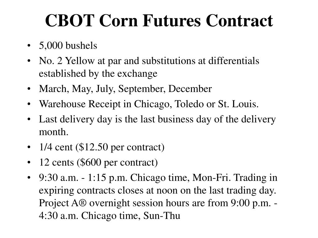 CBOT Corn Futures Contract