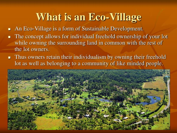 What is an eco village l.jpg