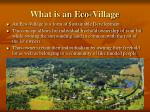 what is an eco village