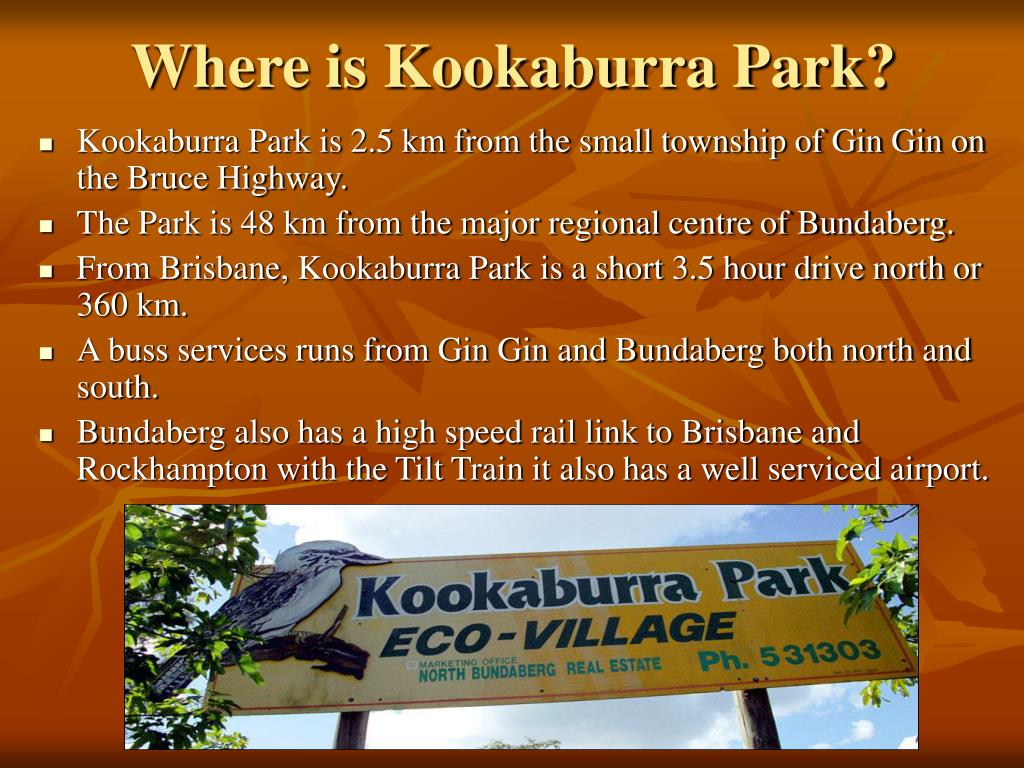 Where is Kookaburra Park?