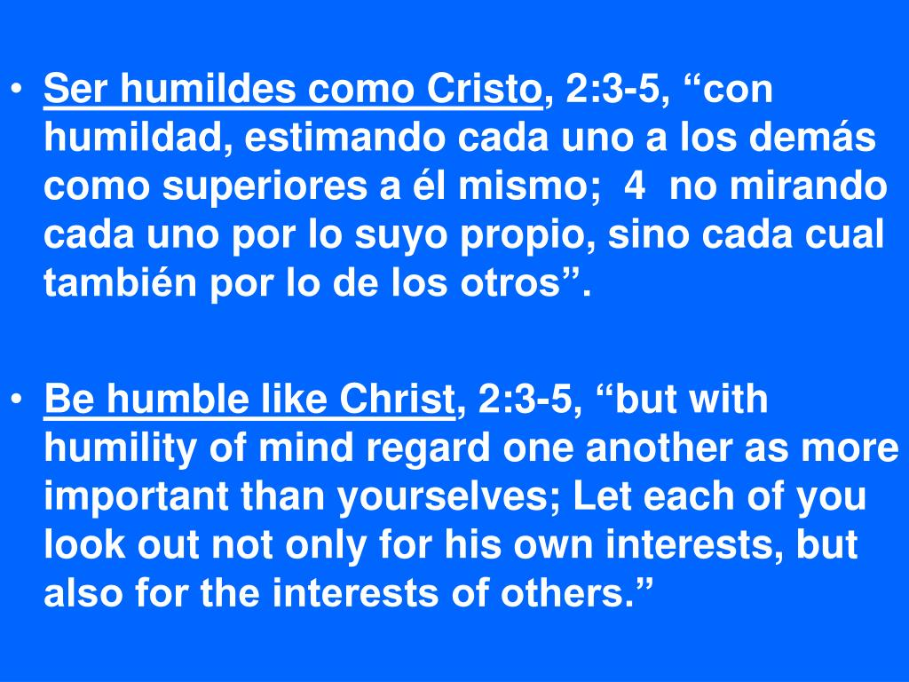 Ser humildes como Cristo