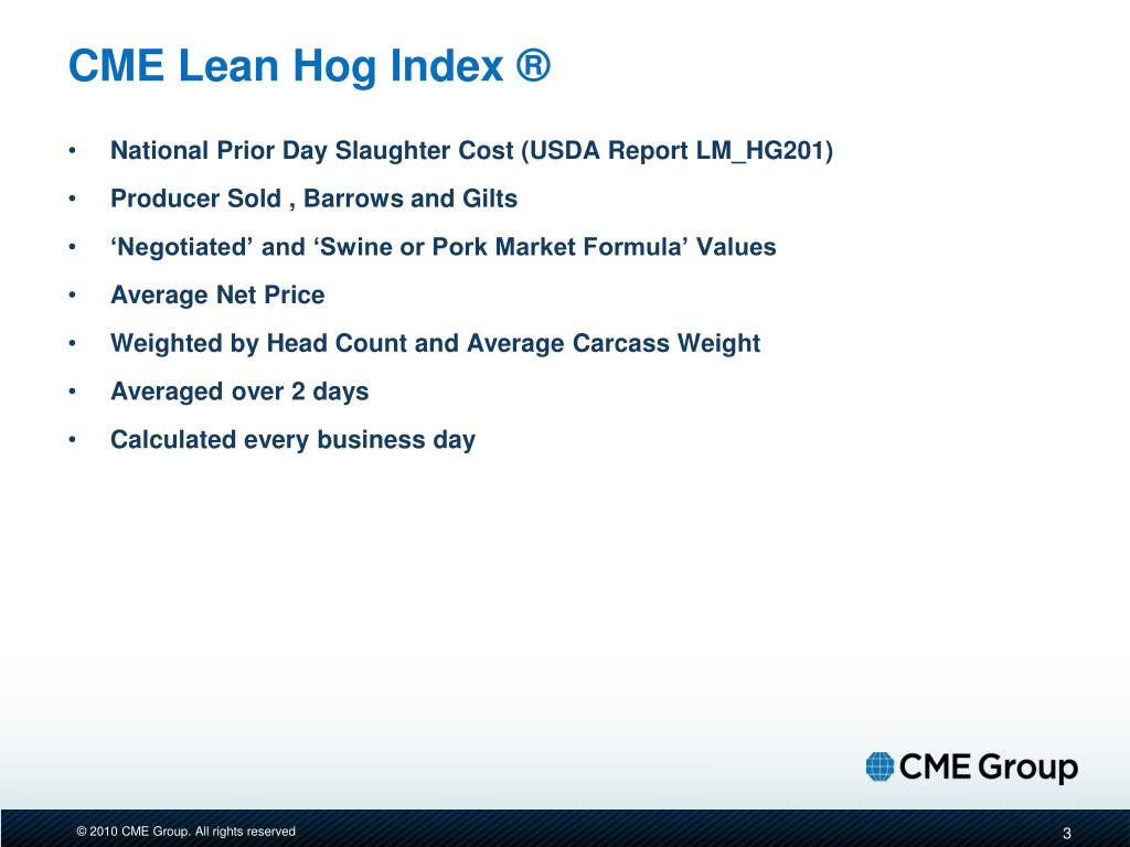 CME Lean Hog Index ®