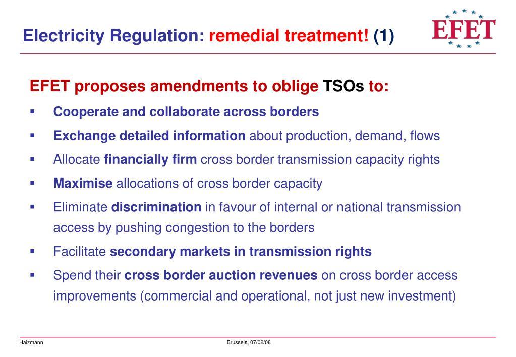Electricity Regulation: