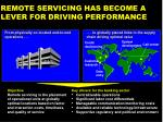 remote servicing has become a lever for driving performance