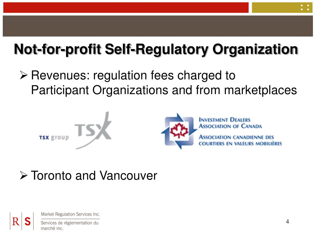 Not-for-profit Self-Regulatory Organization