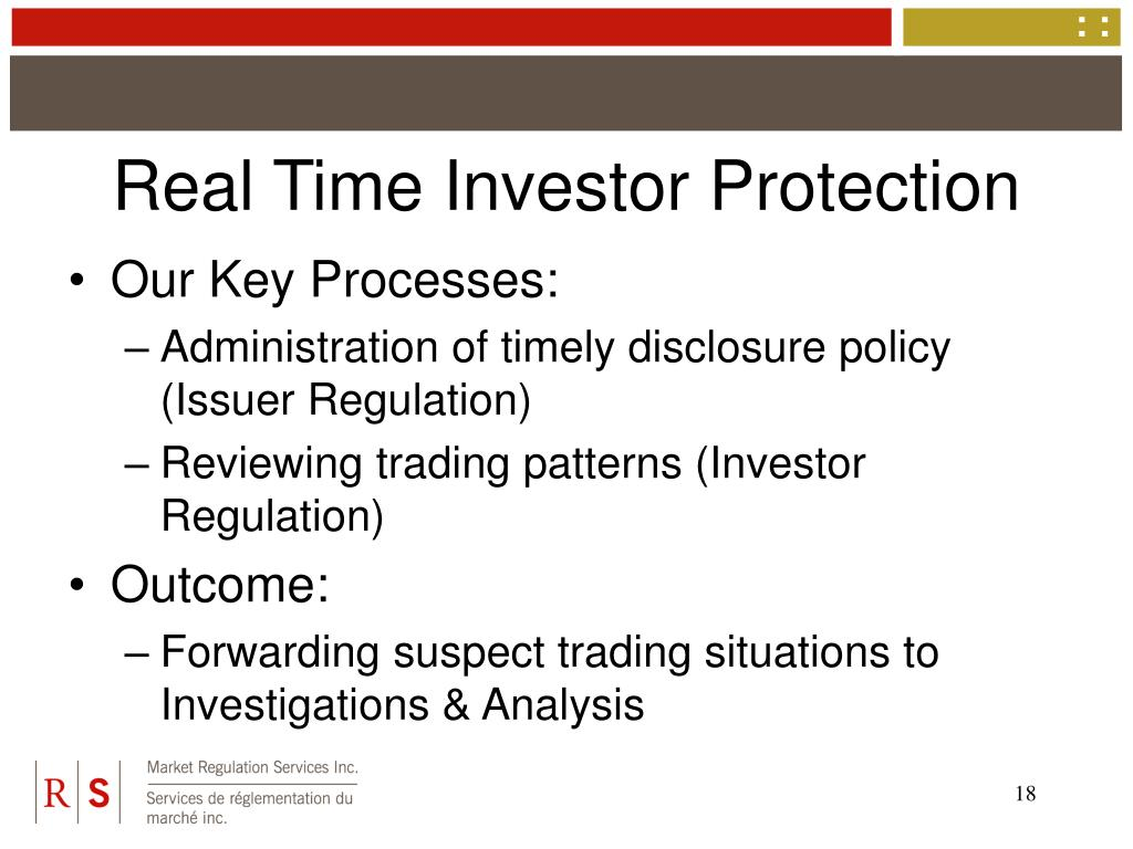Real Time Investor Protection