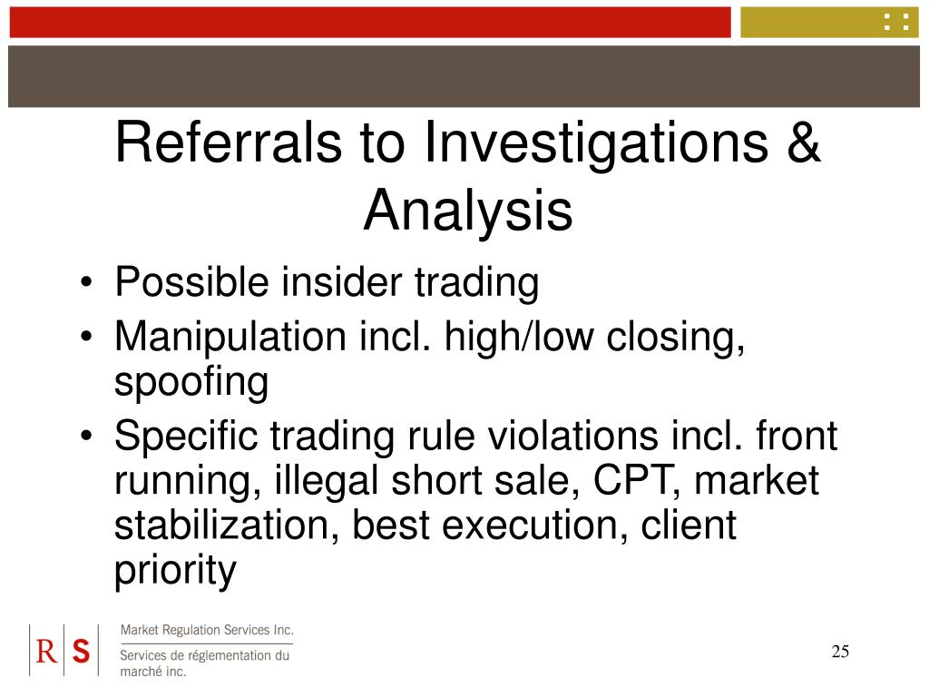 Referrals to Investigations & Analysis